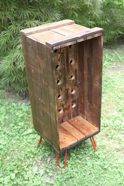Custom Made Shipping Crate Wine Rack