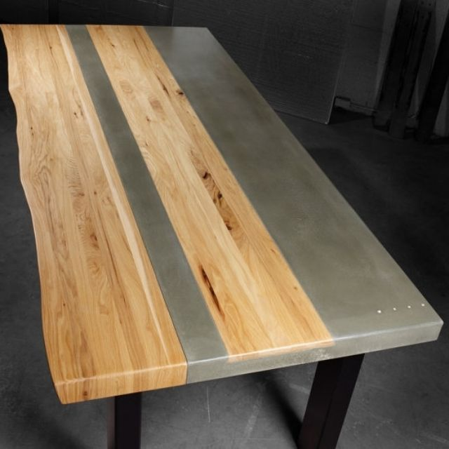Concrete dining tables custommade concrete wood steel dining kitchen table by jason sitter workwithnaturefo