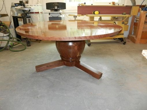 Custom Made Walnut Round Table