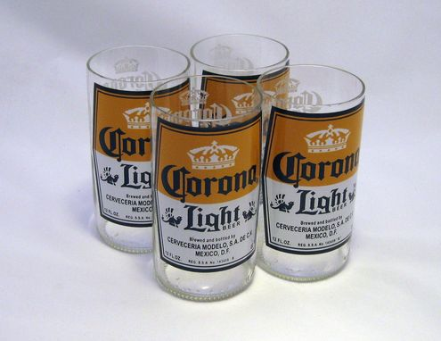 Custom Made Beer Bottle Tumbler: Corona Light 10oz