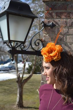 Custom Made Sunset Floral Fascinator
