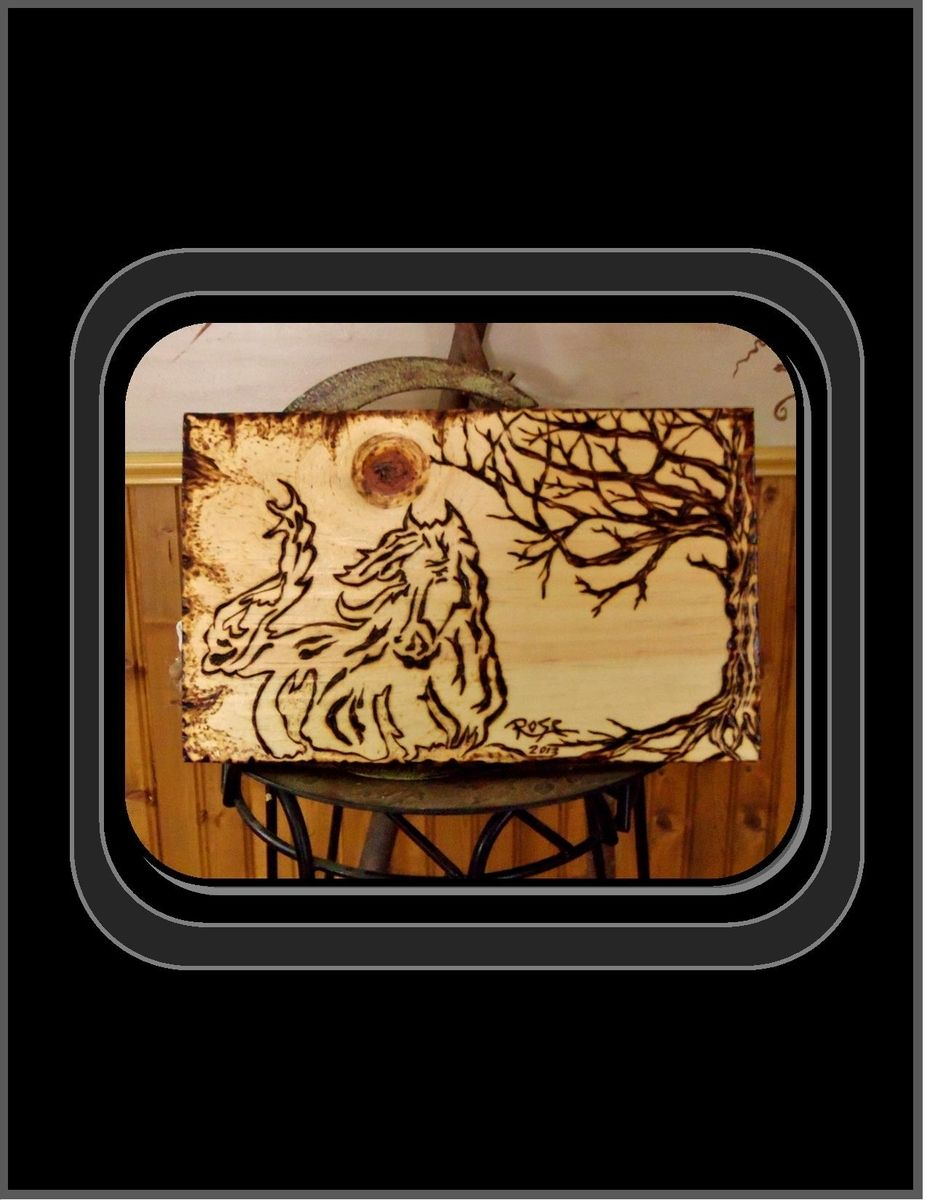 Hand Crafted Horse Art Horse Plaque Wall Art Wood