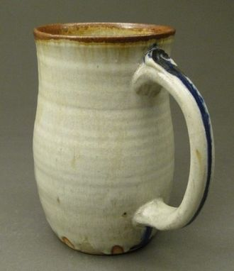 Custom Made Nuka Beer Mug With Rust Iron And Cobalt Blue Colors, (Sku 54)