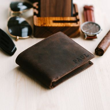 Custom Made Engraved Wallet,Personalized Wallet,Mens Wallet,Leather Wallet
