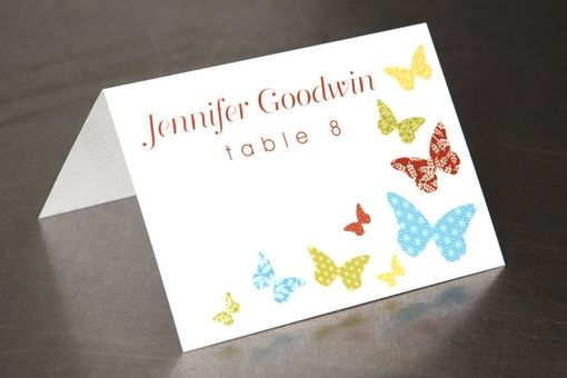 Custom Made Wedding Place Cards - Butterfly Place Cards - Escort Cards Custom Designed