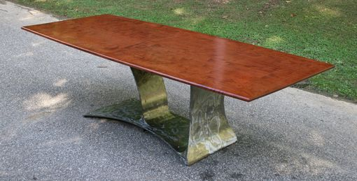 Custom Made Modern Dining Room Table In Wood And Metal