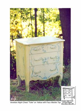 Custom Made Venetian Night Chest Toile On Yellow And Blue