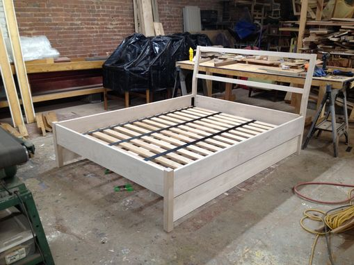 Custom Made Queen Trundle Bed With Webbing