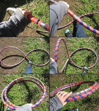 Custom Made Fruit Stripe Hula Hoop - Weighted Collapsible Travel