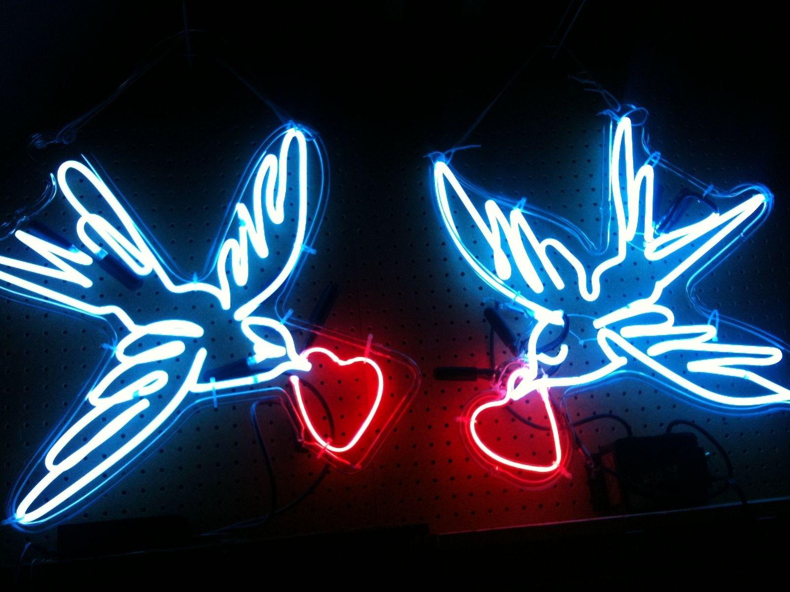 Custom Made Neon Art Birds By Studio Glow CustomMadecom
