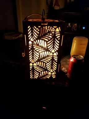 Custom Made Leaf Mosaic Hanging Lamp