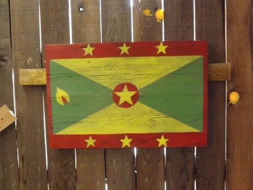 Custom Made Barn Wood Grenada Flag Painting