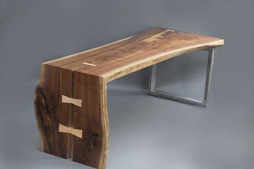 Custom Made Walnut Slab Coffee Table 1 Of 2