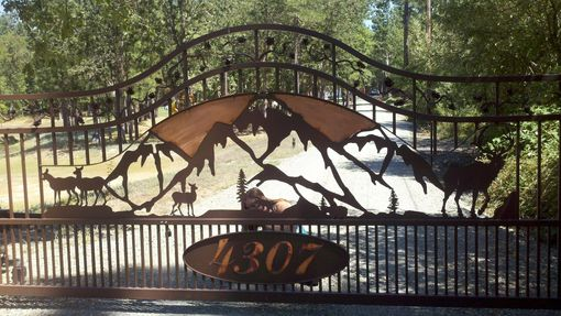 Custom Made Custom Metal Gate Art