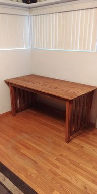 Custom Made Solid Red Oak Mission Style Desk