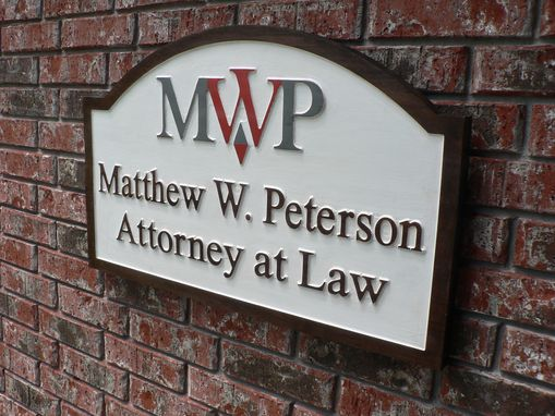 Custom Made 36 X 18 X 2 Walnut Sign With Raised Lettering.