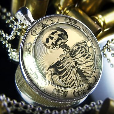 Custom Made Large Memento Mori Sterling Silver Necklace 131-Slrn