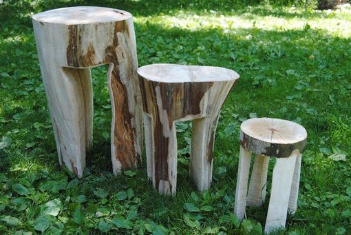 Custom Made Chainsaw Carved Planter Stands