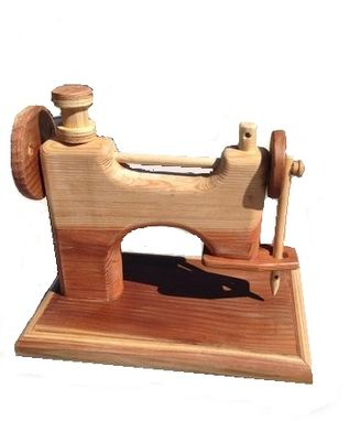 Custom Made Redwood Sewing Machine
