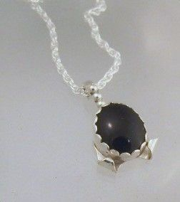 Custom Made Black Onyx Pendent
