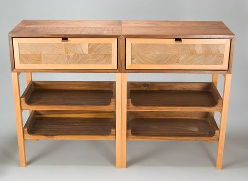 Custom Made Reclaimed Heart Pine Console Tables
