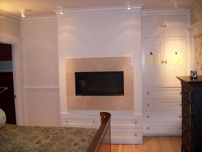 Custom Made Fireplace And Storage