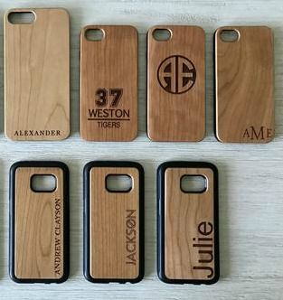Custom Made Personalized Wooden Iphone And Samsung Cases