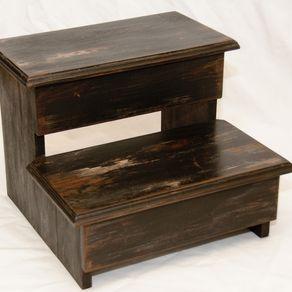 Miraculous Custom Step Stools Handmade Wood Stepstools Custommade Com Ibusinesslaw Wood Chair Design Ideas Ibusinesslaworg