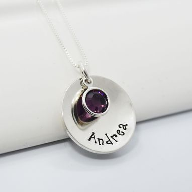 Custom Made Personalized Mothers Necklace Name Necklace With Birthstone