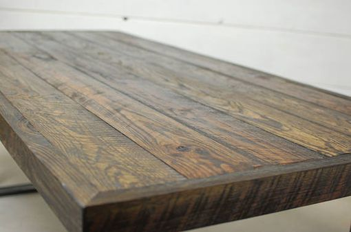 Custom Made Alamo Wood Industrial Dining Table