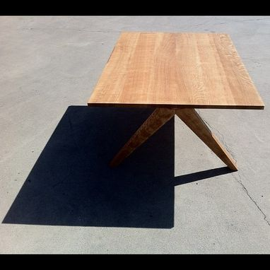 Custom Made Quarter Sawn Oak Angular Coffee Table