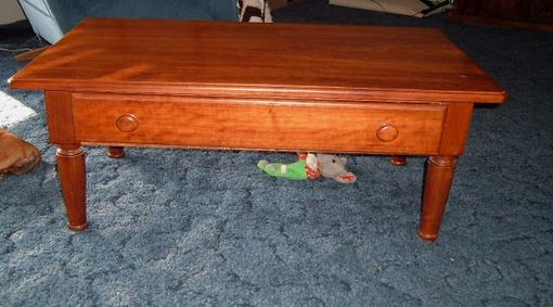Custom Made Solid Cherry Coffee Table With Drawer