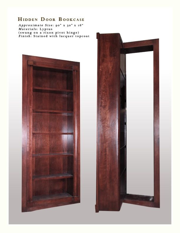 Handmade Hidden Door Bookcase By Birdseye Custom Millwork
