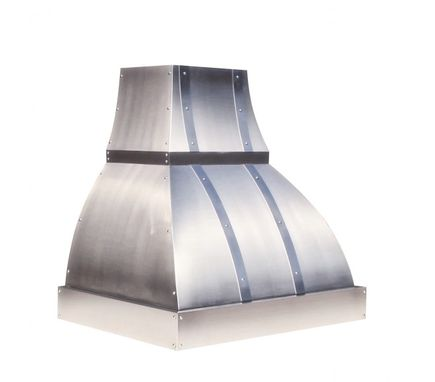 "Custom Made Ironworker™ - 30"" Custom Stainless Steel Range Hood By World Coppersmith"