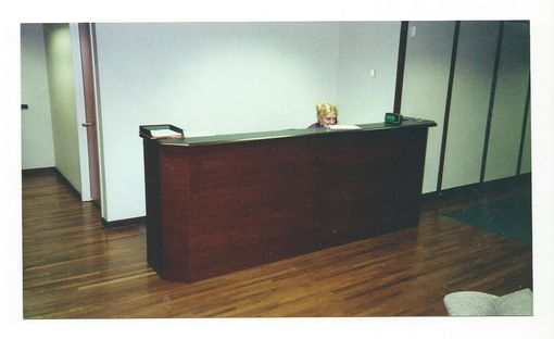 Custom Made Mahogany Reception Desk