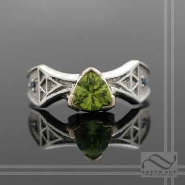 Custom Made Peridot Triforce Ring