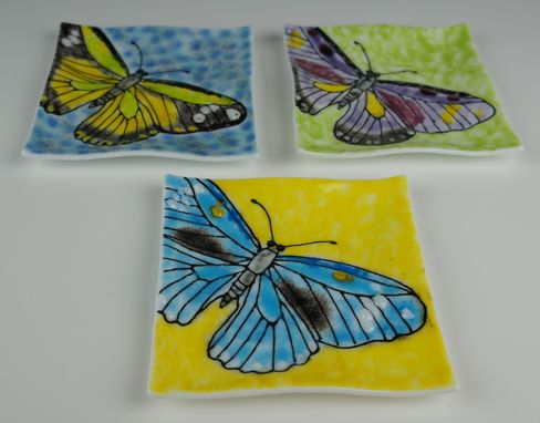 Custom Made Ripples- Butterfly Plate