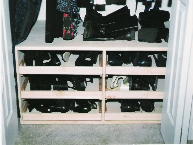 Handmade Custom Closet Shoe Rack By Larue Woodworking