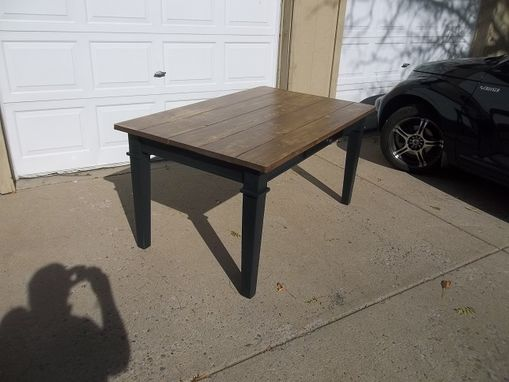 "Custom Made Shaker Style Farm Table-60"" X 36"" With Drawer."