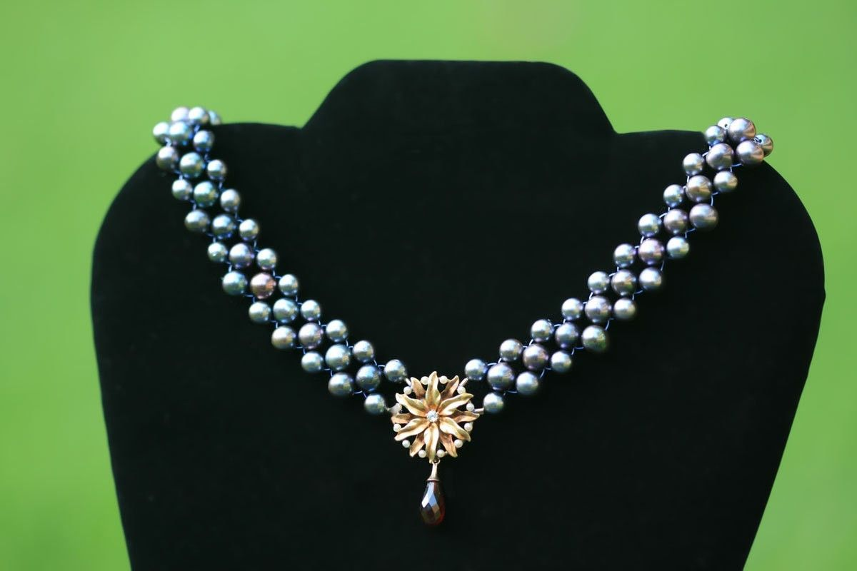 Buy A Custom Hand Woven Blossoming Peacock Pearl Necklace