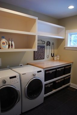 Custom Made Laundry Room Storage Organizer