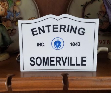Custom Made Massachusetts Town Line Sign