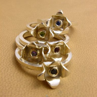 Custom Made New Sterling Silver With Cz Stacking Rings By Cristina Hurley
