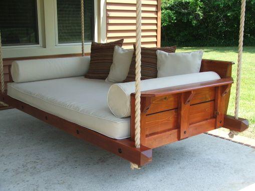 custom rustic porch bed swing by carolina porch swings. Black Bedroom Furniture Sets. Home Design Ideas