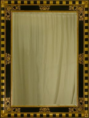 Custom Made Mirror 17th Century Italian Style With Sgraffito Design