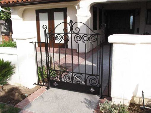 Custom Made Spanish Revival Entry Gate, Custom Clover Motif