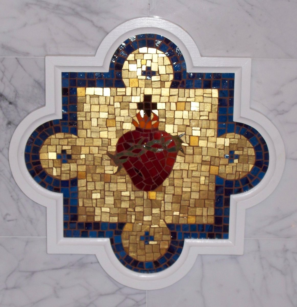 Tile Savannah Ga >> Handmade Sacred Heart Mosaic by Red Fern Art Studio ...