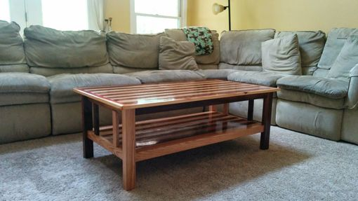 Custom Made Oak And Black Walnut Coffee Table