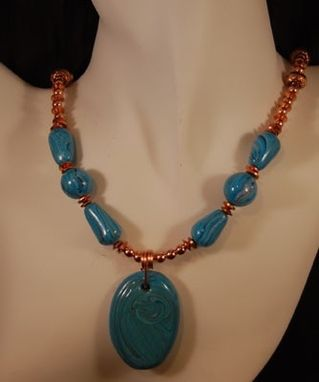 Custom Made Turquoise & Copper Polymer Set