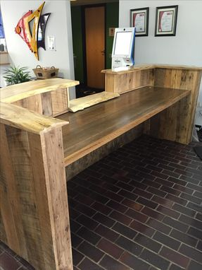Custom Made Rustic Reclaimed Wood And Live Edge Reception